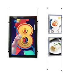 """7 """"~21.5"""" Wall Hanging IPS de la publicité pour les magasins d'affichage de la fenêtre LCD"""