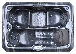 Massage-heiße Wannen Kingston-Confortale im Freien Spase Jcs-13 schwarze Farbe mit verschließbarem Deckel