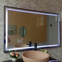 고급 호텔 욕실 LED 미러 알루미늄 합금 브러시 프레임