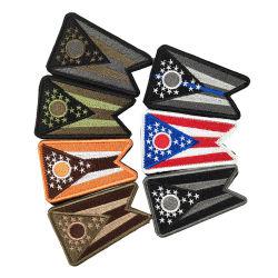 مخصص الولايات المتحدة الأمريكية العلم رخيص التطريز على قطعة قماش لا حد أدنى