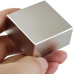 니켈 코팅이 된 가장 강력한 N52 스퀘어 블록 네오디뮴 마그넷