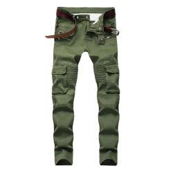 Elastische dünne Jeans-keucht männlicher Ausdehnungs-Druck Streetwear Mens-Denim-Jeans