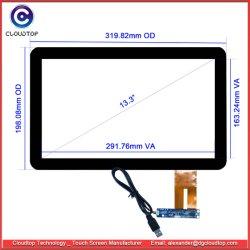 """13.3 """" 10 Punkt-multi Note hervorstehendes kapazitives mit Berührungseingabe Bildschirm mit USB-Schnittstelle für Kiosks"""