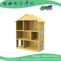 Un design moderne préscolaire étagère en bois pour les enfants (type A) (HJ-4203)