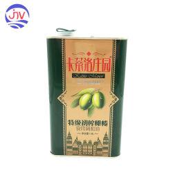 Barattolo di latta di rettangolo per il Virgin supplementare 1.8litre dell'olio di oliva
