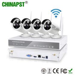 Bas prix 4CH de sécurité Système de caméra de vidéosurveillance sans fil WiFi (PST-WIPK04BL)