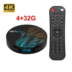 HK1 Макс Android 9.0 Smart TV в салоне Quad Core 2.4G/5g WiFi Bt 4.0 DDR3 Netflix 4K Hdr Media Player