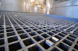 Grating met platte kop van de Grill van de Glasvezel van de Oppervlakte FRP/GRP voor het Water van het Afval