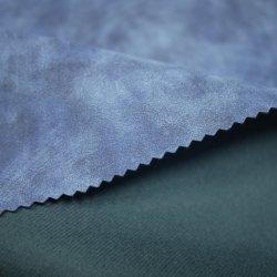 قماش من الجلد المحبوك 100 PU عالي الجودة لحقائب الملابس الجلدية