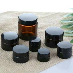 La FDA Certificados de diversos tamaños ámbar Premium crema/Jarra de cristal de cosméticos