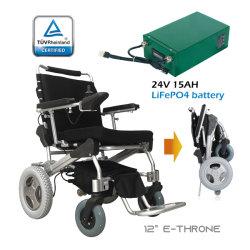 EThroneのセリウムが付いている電動車椅子を折る携帯用軽量のブラシレス電池のモーターを備えられた移動性のスクーター