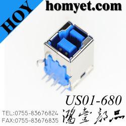 L$tipo B 3.0 Connectory del USB con il tipo connettore (US01-680) del TUFFO