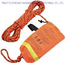 Corda per il lancio del soccorso marino della costa