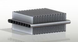 탄미익 공기 냉각기를 가진 알루미늄 Microchannel 관