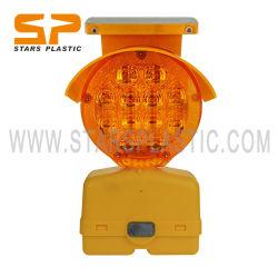 A energia solar único lado a segurança do tráfego de LED LED pisca a Luz do cone de luz de advertência Barricade