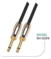 Cable de guitarra de 10 pies de Nylon 1/4 de pulgada de oro de 6,35 mm directamente a Ts Ts guitarra eléctrica y cable de audio Bass instrumento profesional OFC Cable CCA 22/24 awg Meden colores