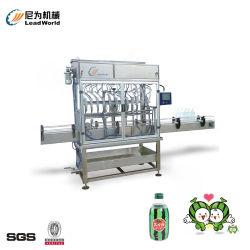 제정성 플라스틱 유리병 부피 측정 채우는 선을 정리하는 식용 기름 샴푸를 요리하는 자동적인 액체 충전물 기계 수박 주스 조미료