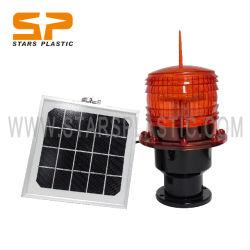 مدخنة الطاقة الشمسية الطاقة الطاقة الطاقة الشمسية عرقلة بناء برج ضوء تحذير LED مصابيح منارة دوارة لمطار رانواي Taxiway