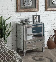 Startseite Möbel verspiegelte Holzkiste mit 2 Schubladen