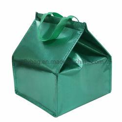De niet Geweven Koelere Zak van de Laminering voor PE van het Voedsel de Zak van de Cake van de Isolatie van de Folie van het Aluminium van het Schuim met Open Klitband