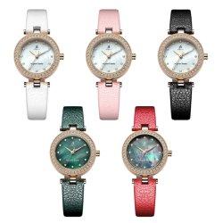 Tira de couro Personalizado colorido moda Analog Quartz senhoras de relógio de pulso (JY-021)