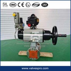 Actuador neumático con la palanca de control manual de actuador neumático el interruptor de emergencia