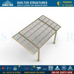 판매, 폴리탄산염 차 대피소를 위한 호화스러운 알루미늄 단 하나 현대 아치 지붕 간이 차고