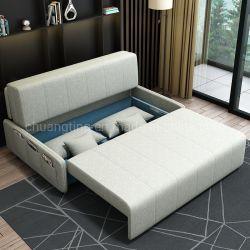 Un canapé-lit pliant de tissu Meubles de salle de séjour un canapé-lit, mécanisme de métal, tissu de pliage de lit canapé-lit cum