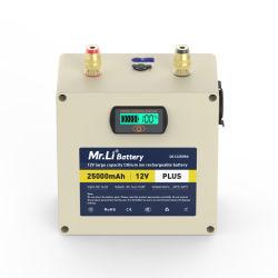 Bateria de Lítio de 18650 12V 25A Bateria recarregável Carregador incluem fabricação da bateria 25A Bateria de alta capacidade para House gratuitamente