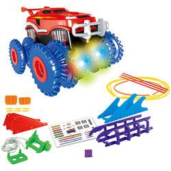 ライト(10315336)が付いているB/Oのおもちゃスロット軌道車の電池式車