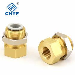 """Il tubo di aria interno pneumatico della giuntura Kq2e04-02 del deflettore del filetto 4mm, 1/4 """"di compressore d'aria filettato parte la giuntura/montaggi pneumatici Q327"""