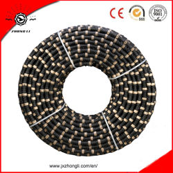 Granite Quarriesのための11.5 mm RubberおよびSpring Diamond Wire Saw