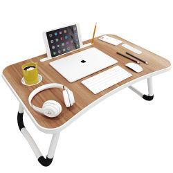 Draagbare opvouwbare verstelbare opvouwbare tafel voor laptop Desk computer Mesa PARA-laptopstandaard voor slaapbank, zwart