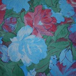 Novo padrão de Flores pintura a óleo PU Couro Fabricante em imitação de couro
