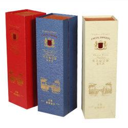 Corboard vino Vino de madera caja de embalaje de papel Caja de regalo