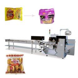 Wrapper automatique de débit pour les nouilles instantanées des gâteaux Pain Pack oreiller de groupe de famille d'emballage Les machines de conditionnement horizontale de la machine