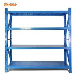 Синий металлические регулируемые Boltless 4 полки складских полок для установки в стойку для хранения в гараже блока управления