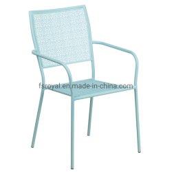 Fabricante da Cadeira de ferro forjado Cadeira de malha de aço Cadeira Pátio Lazer Mobiliário metálico cadeira jardim exterior