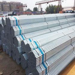 Строительных лесов трубки размер HDG горячей DIP ОЦИНКОВАННЫХ Q235 Q345 сооружением сварных стальных трубопроводов