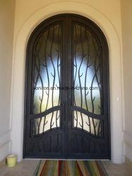 Plaza Wholesales personalizado de la parte superior de la puerta frontal de acero para la casa