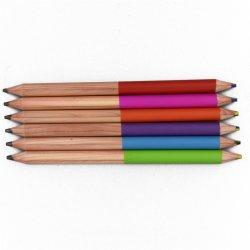 El dibujo de forma redonda de madera de cedro Lápiz Jumbo de regalo de un lado Hb/Lado Rainbow Multi-Color