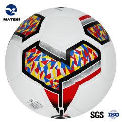 Red PU Máquina de couro agrafada bolha escombros de bola de futebol Football