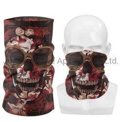 Groothandel goede kwaliteit Mode Blank Sublimation Custom naadloze schedel gezicht Cover Neck stofhoes facemask Bandana for men Women