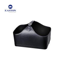 Cestino conveniente del pattino del Leatherette dell'hotel con colore nero