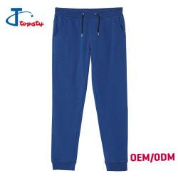 Custom ocupado Slim Fit Skinny algodón liso blanco azul sudor pantalones para hombres