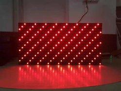 Piscina semi-DIP/SMD 1080P P10 LED de alta definição de cor vermelha único ecrã de vídeo