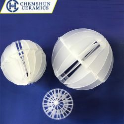 Boule creuse polyédriques en plastique pour l'eau de l'équipement de traitement de l'emballage