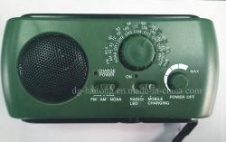 2018 Haut de page La vente d'urgence multifonction dynamo solaire Moaa AM/FM/Weather Radio avec lampe torche à LED