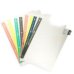 PVC colorido fichas, páginas con fichas, Insertar páginas para Binder, planificador y PVC reciclado de materiales.