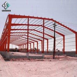 Structure légère en acier de construction du hangar de métal Pre-Fabricated Atelier d'entrepôt
